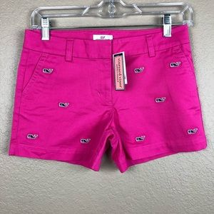 Vineyard vines pink embroidered whale Sz 12 Short